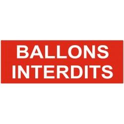 Panneau interdiction ballons interdits