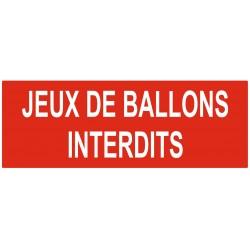 Panneau interdiction jeux de ballons interdits
