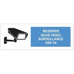 Autocollant réserve sous surveillance vidéo
