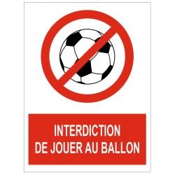 Panneau interdiction de jouer au ballon