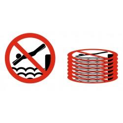 Panneau lot interdiction de plonger