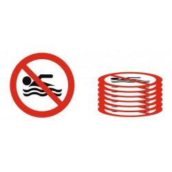 Panneau lot interdiction baignade interdite