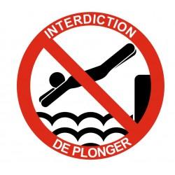 Panneau interdiction de plonger