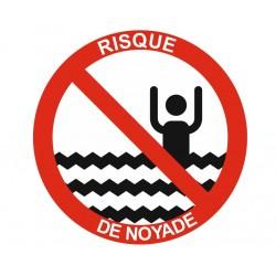 Panneau interdiction risque de noyade