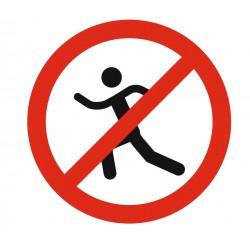 Panneau interdiction de courir autour du bassin