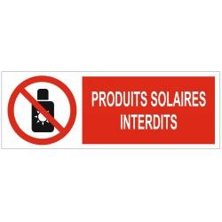 Panneau interdiction produits solaires interdits