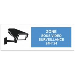Autocollant zone sous surveillance vidéo