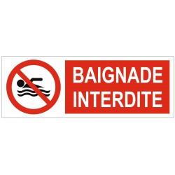 Panneau interdiction baignade interdite