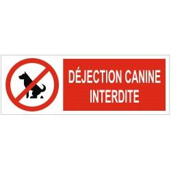 Panneau interdiction déjection canine interdite