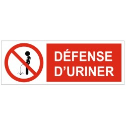 Panneau interdiction défense d'uriner