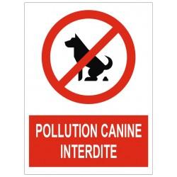 Panneau interdiction pollution canine interdite