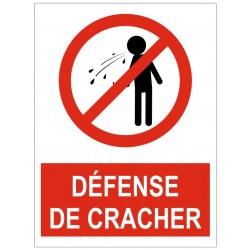 Panneau interdiction défense de cracher