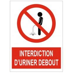 Panneau interdiction d'uriner debout