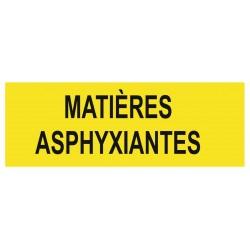 Panneau danger matières asphyxiantes