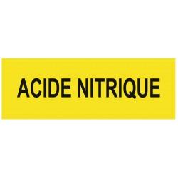Panneau danger acide nitrique