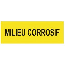 Panneau danger milieu corrosif