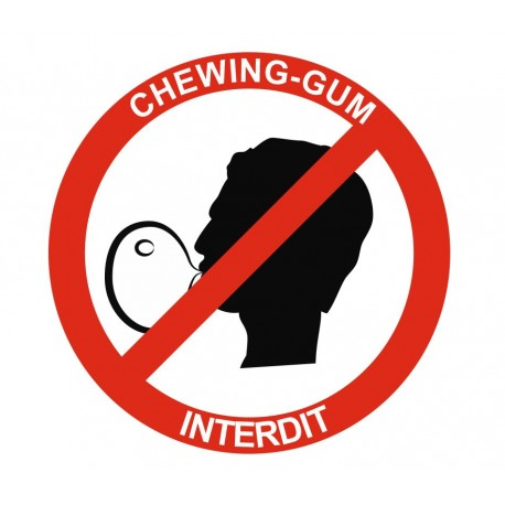 Panneau chewing-gum interdit