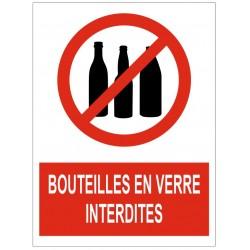 Panneau bouteilles en verre interdites