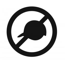 Panneau casquettes interdites