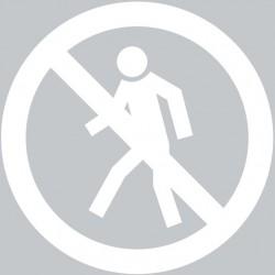 Panneau interdiction de courir