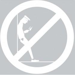 Panneau interdiction de s'adosser au mur