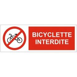 Panneau bicyclette interdite