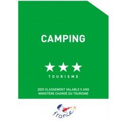 Panonceau Camping tourisme (1 à 5 étoiles)