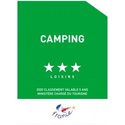 Panonceau Camping loisirs (1 à 5 étoiles)