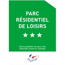 Panonceau Parc résidentiel de Loisirs (1 à 5 étoiles)