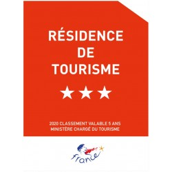 Panonceau Résidence de Tourisme (1 à 5 étoiles)