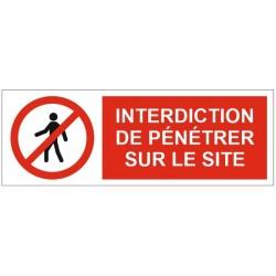 Panneau interdiction de pénétrer sur le site