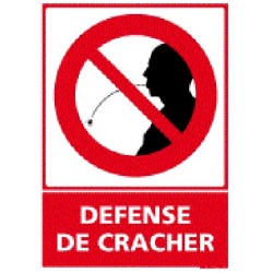 Panneau défense de cracher