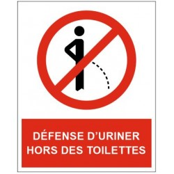 Panneau défense d'uriner hors des toilettes