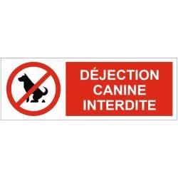 Panneau déjection canine interdite