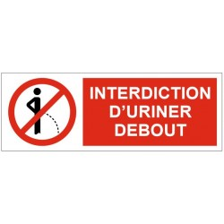 Panneau interdiction d'uriner debout