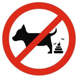 Panneau interdit crotte chien