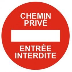 Panneau chemin privé - entrée interdite