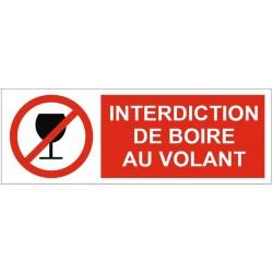 Panneau interdiction de boire au volant
