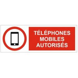 Panneau téléphones portables autorisés