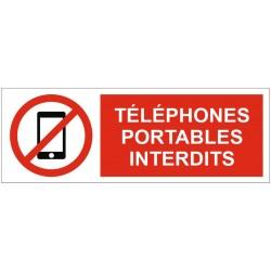 Panneau téléphones portables interdits