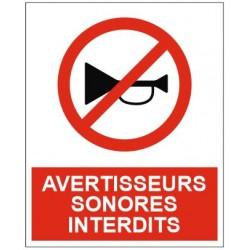 Panneau avertisseurs sonores interdits