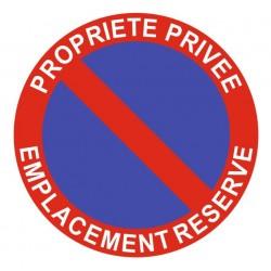 Panneau propriété privée - emplacement réservé