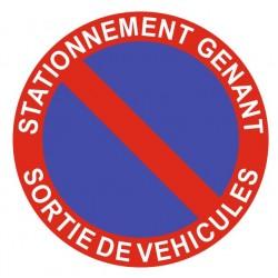 Panneau stationnement gênant - sortie de véhicules