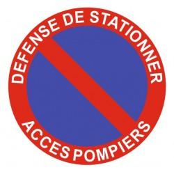 Panneau stationnement gênant - sortie accès pompiers