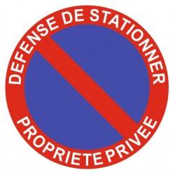 Panneau stationnement gênant - propriété privée