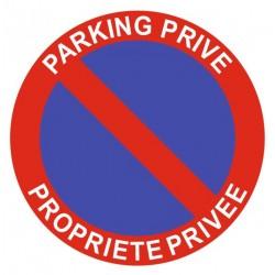 Panneau parking privé - propriété privée