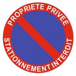 Panneau propriété privée - stationnement interdit