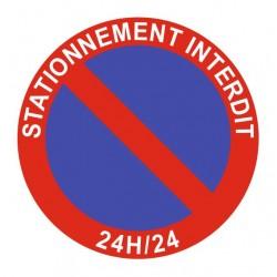 Panneau stationnement interdit 24H/24
