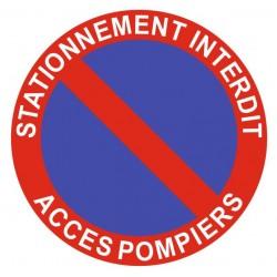 Panneau stationnement interdit - accès pompiers