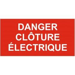 Panneau danger clôture électrique